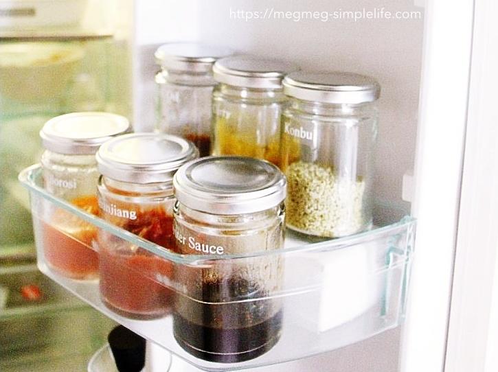 冷蔵庫収納〜段差をつける