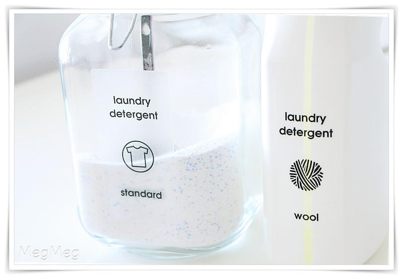 無印のガラスボトルで洗剤収納
