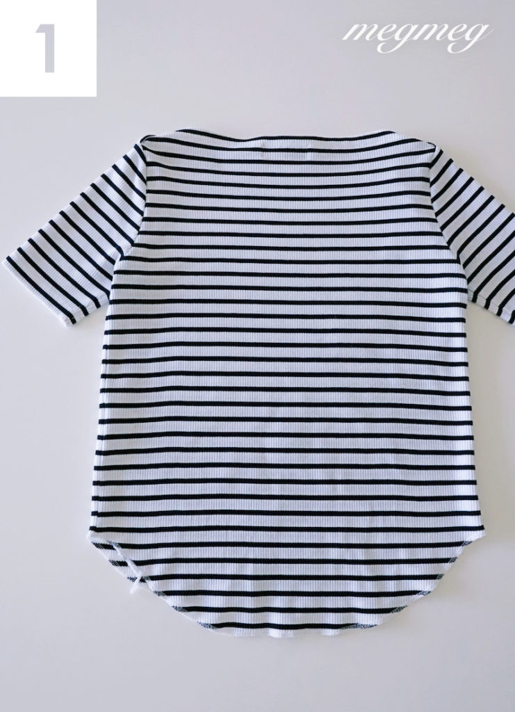 Tシャツのたたみ方1