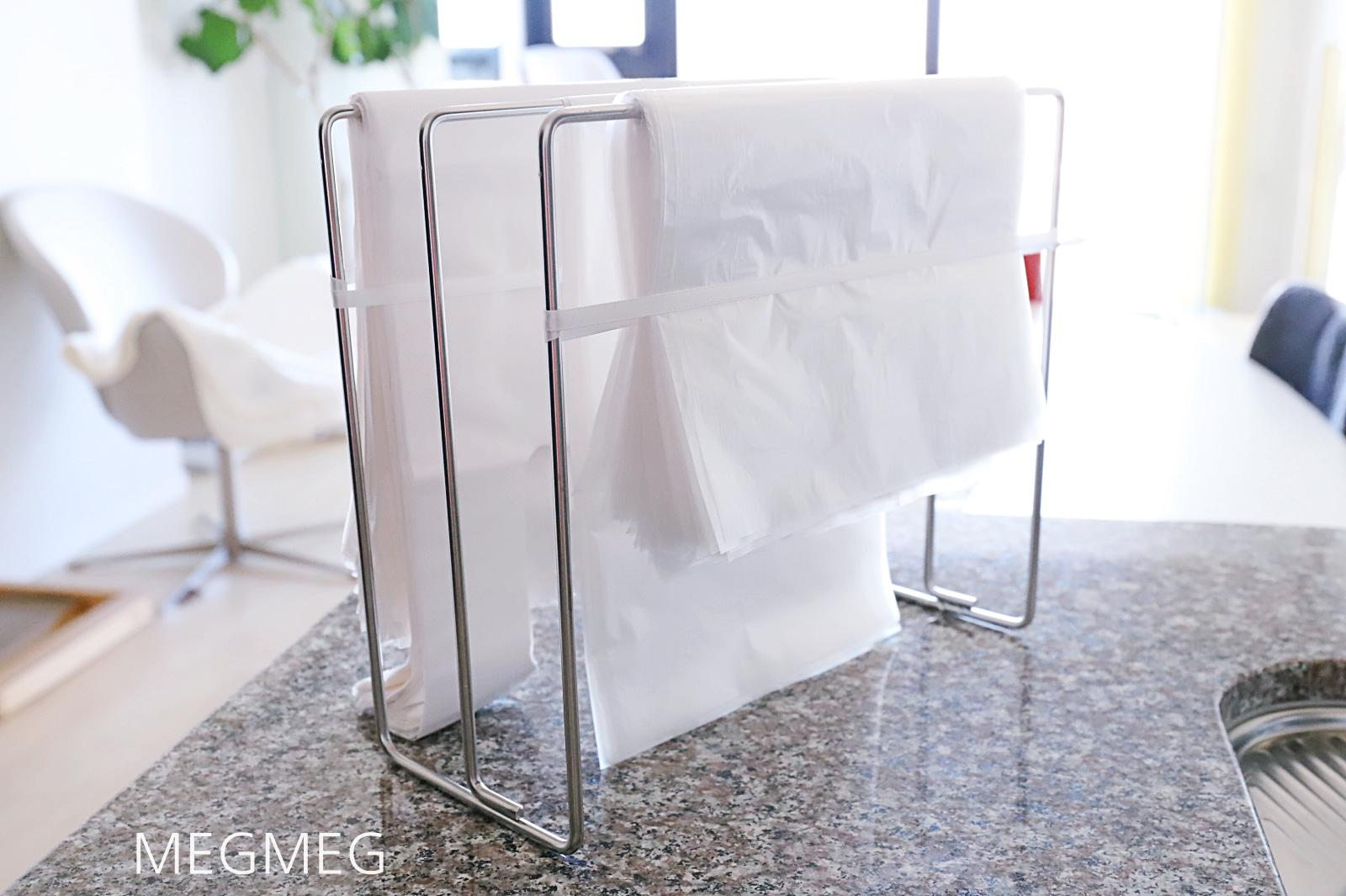 レジ袋の収納方法(ハンガー)