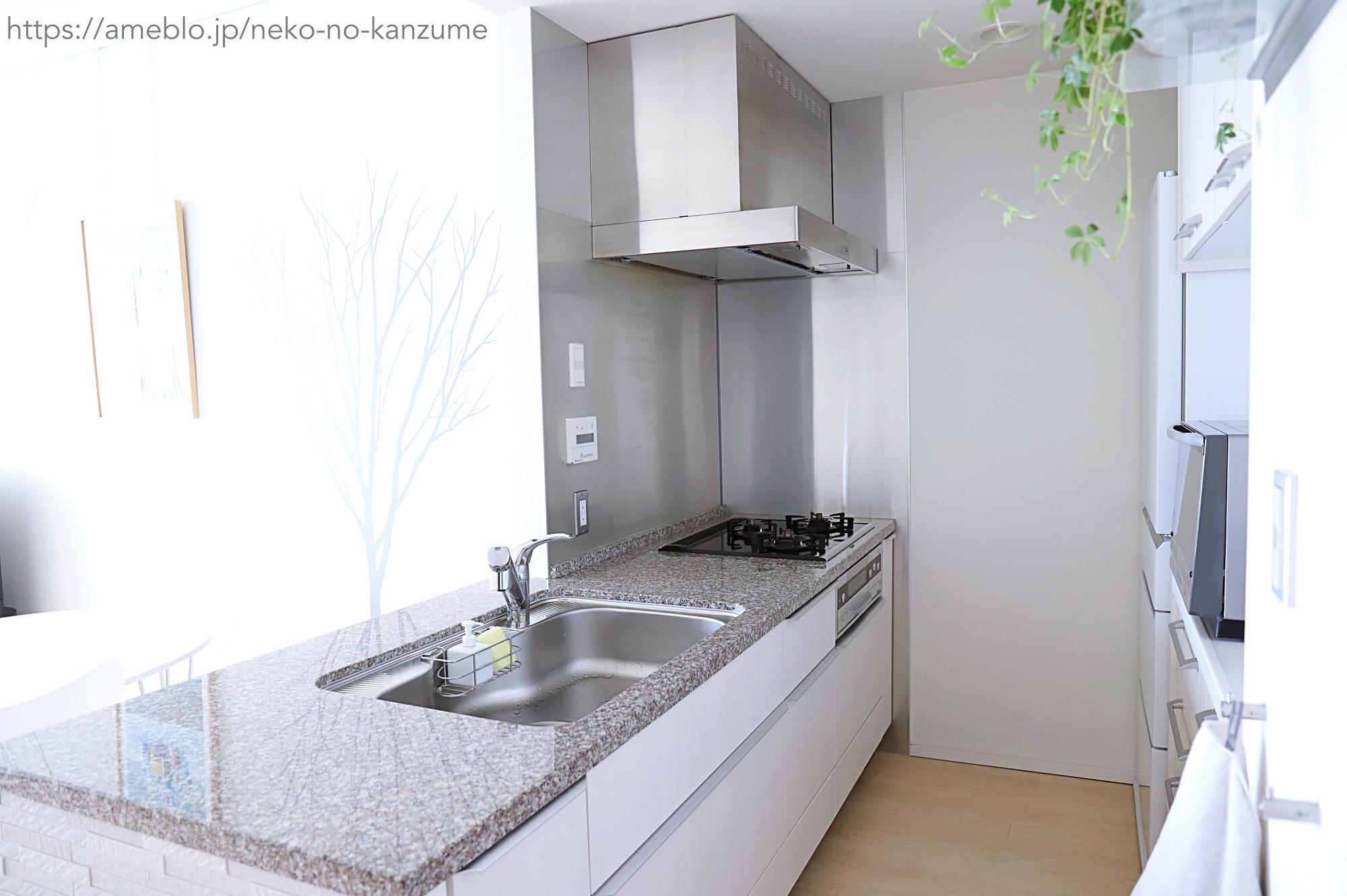 生活感のないキッチン