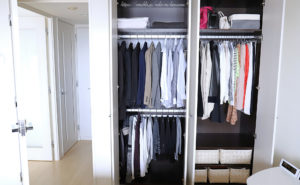 Simple closet storage
