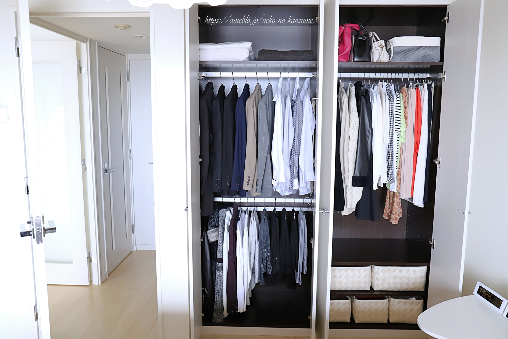 Simple closet storage