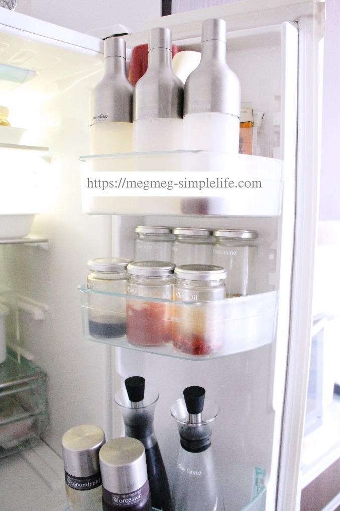 冷蔵庫ドアポケット収納
