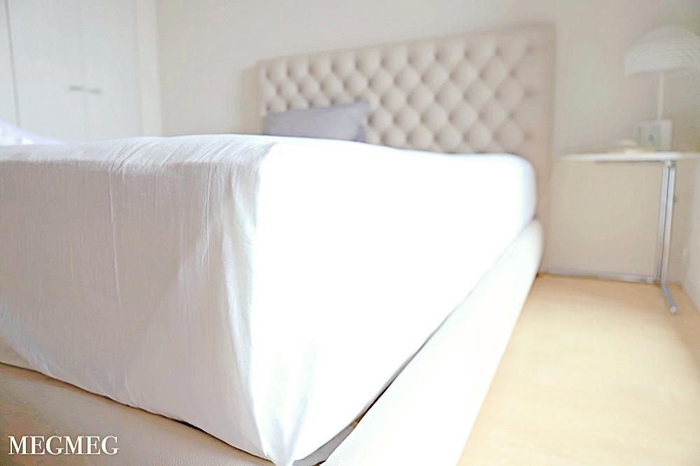 ベッドシーツの掛け方