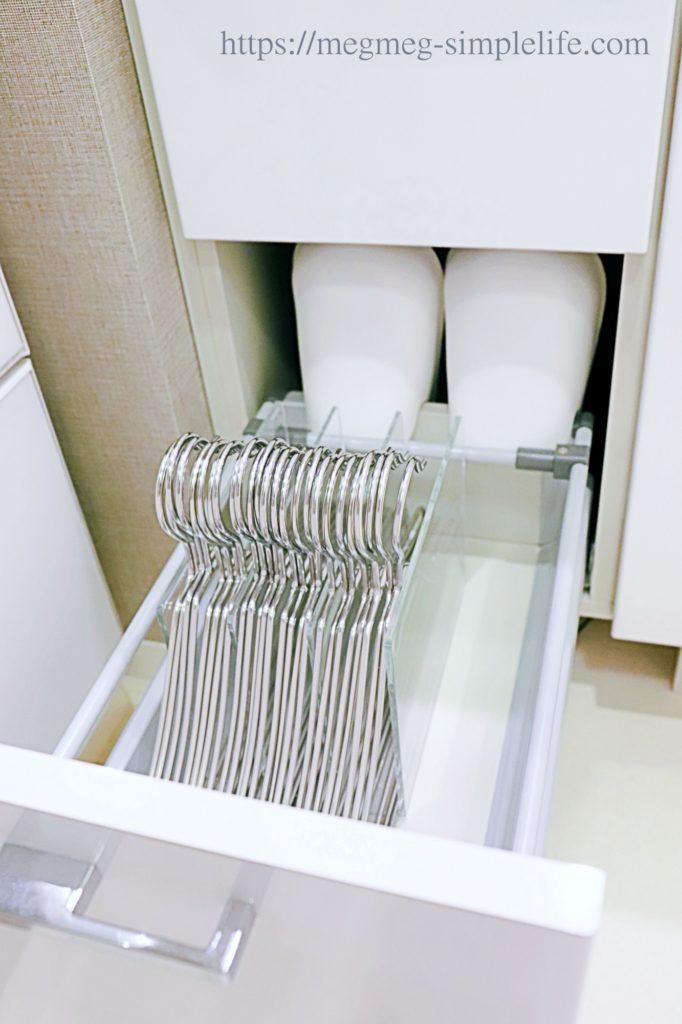 洗濯ハンガーの無印収納