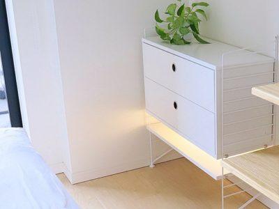 【寝室インテリア】寝室に北欧チェスト