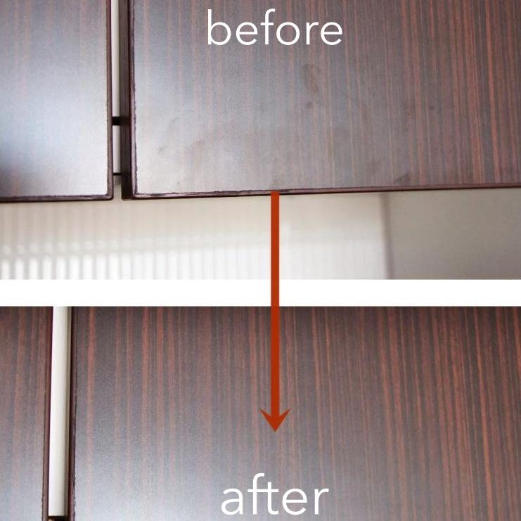 家具は中性洗剤で拭き掃除