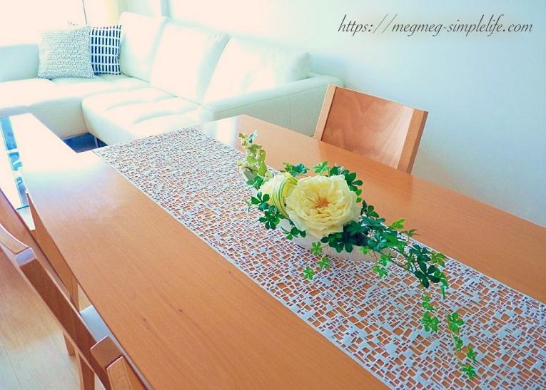 造花のテーブルアレンジ