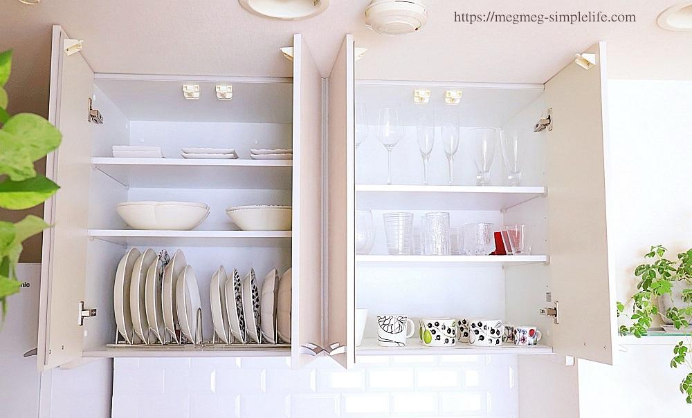 食器棚の7割収納
